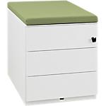 Caisson mobile 3 tiroirs Gautier Office Sunday 420 x 570 x 500 mm Blanc, vert