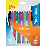 Stylo bille Paper Mate Inkjoy 0.3 mm Assortiments   10 Unités