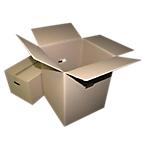 Caisse carton GPV 550 x 350 x 300 mm Kraft   10 Unités