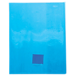 Protège cahier Calligraphe Cristalux Bleu