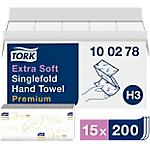 Distributeur essuie mains Tork Premium 2 épaisseurs   15 Unités de 200 Feuilles