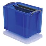 Boîte de rangement Really Useful Boxes 19 L 25,5 (H) x 29 (l) cm Bleu