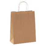 Sacs en papier Poignée torsadée 31 (H) x 10 (l) cm 80 g