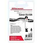 Cartouche jet d'encre Office Depot Compatible Canon CLI 526BK Noir