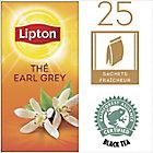 Sachets de thé noir Earl Grey Lipton 25 Unités de 2 g