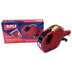 Pince pour étiquettes en rouleau APLI 2 lignes Rouge
