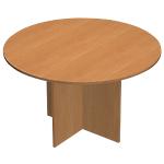 Table de réunion Busyline 1200 x 1200 x 720 mm Imitation aulne