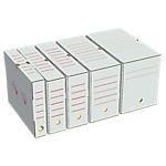 Boites d'archives Smurfit Kappa 80 mm 25 cm Blanc, rouge 50 Unités