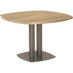 Table de réunion courbe Gautier Office Vermont 1150 x 1150 x 750 mm Imitation chêne