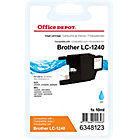 Cartouche jet d'encre Office Depot Compatible Brother LC1240C Cyan