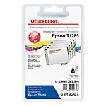 Cartouche jet d'encre Office Depot Compatible Epson T1285 Noir, Cyan, Magenta, Jaune T1285 4 Unités