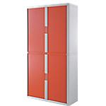 Armoire portes à rideaux Paperflow easyOffice 110 (L) x 204 (l) cm Blanc, rouge