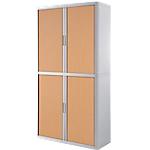 Armoire portes à rideaux Paperflow easyOffice 110 (L) x 204 (l) cm Blanc, Imitation Hêtre