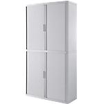 Armoire portes à rideaux   H. 204 x L. 110 cm   Paperflow   easyOFFICE   décor uni blanc
