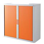 Armoire portes à rideaux Paperflow easyOffice 1100 x 415 x 1040 mm Blanc, orange