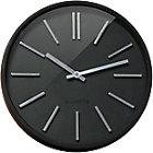 Orium by CEP Horloge murale Goma 11045 35 x 4,8 cm Noir, Argenté