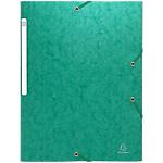 Chemise 3 rabats à élastique Exacompta Carte lustrée véritable A4 600 g
