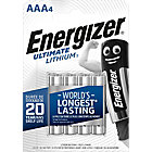 Piles lithium Energizer Ultimate AAA   4 Unités
