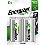Piles rechargeables Energizer Power Plus D   2 Unités