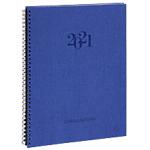 Semainier Exacompta Consultation 1 Semaine sur 2 pages 2021 Bleu