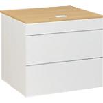 Plan d'accueil bas Gautier Office SUNDAY Accueil 800 x 740 x 740 mm Blanc, Imitation Chêne