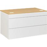 Plan d'accueil bas Gautier Office 800 x 830 x 740 mm Blanc, Imitation Chêne