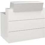 Comptoir banque droite Gautier Office 1200 x 830 x 1200 mm Blanc, Gris