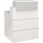Comptoir banque droite Gautier Office SUNDAY Accueil 83 (L) x 110 (P) x 80 (H) cm Blanc, Gris