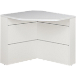 Comptoir banque d'angle 90° Gautier Office SUNDAY Accueil 830 x 740 x 740 mm Blanc, Gris
