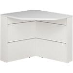 Comptoir banque d'angle 90° Gautier Office SUNDAY Accueil 83 (L) x 74 (P) x 74 (H) cm Blanc, Gris