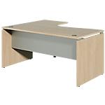 Bureau retour à droite Dual 160 x 120 x 73 cm Imitation chêne, gris aluminium