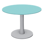 Table ronde London 730 mm Gris