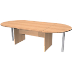 Table de réunion Quadra 2200 x 1100 x 720 mm Imitation hêtre