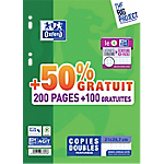 Copies doubles perforées OXFORD A4 Move Pack Blanc   300 Pages 150 Feuilles