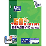 Copies doubles OXFORD A4 Move Pack Blanc   300 Unités de 100 Feuilles