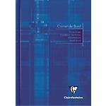 Cahier de bord piqué Clairefontaine A5 Grands carreaux Bleu   20 Feuilles