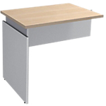 Extension de bureau Adjust 800 x 600 x 820 mm Imitation chêne, blanc