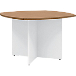Table ronde Gautier Office TopLine Imitation merisier, blanc 1 150 mm x 740 mm
