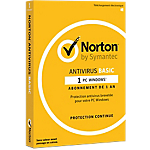 Logiciel Antivirus Symantec Norton Antivirus Basic   1 an