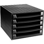 Module de classement Exacompta The Box 5 28,4 x 38,7 x 21,8 cm Noir