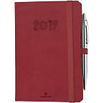 Agenda Oberthur Eton 16 2019 1 Semaine sur 2 pages 16 (H) x 11,5 (l) cm Rouge