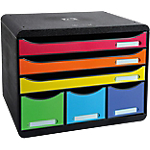 Boîte de rangement 6 tiroirs Exacompta Store Box Maxi 6 27 x 35,5 x 27,1 cm Noir