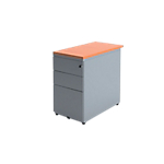 Caisson hauteur bureau Optimal 420 x 800 x 720 mm Imitation poirier, gris aluminium