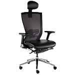 Siège de bureau ergonomique Mécanisme synchrone X chair Noir