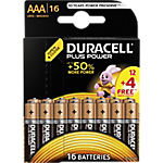 Piles alcalines Duracell Plus Power AAA