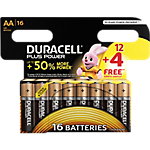 Piles alcalines Duracell Plus Power AA
