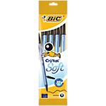 Stylo bille avec capuchon BIC Cristal Soft 0.4 mm Noir   4 Unités