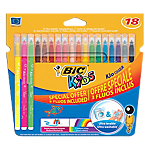 18 feutres fluos   Bic   Kids   Pointe moyenne   Assortiment