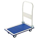 Chariot de transport Charge 150 kg, dossier rétractable Viso 73 (H) x 47,5 (l) x 83 (P) cm Bleu
