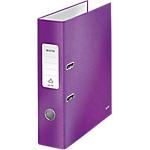 Classeur à levier Leitz WOW 80 mm Carton 2 Anneaux A4 Violet